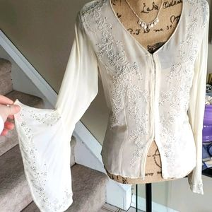 Romantic Bell Sleeve Top Size 4